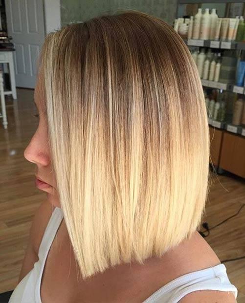 Балаяж на светлые волосы фото на короткие волосы