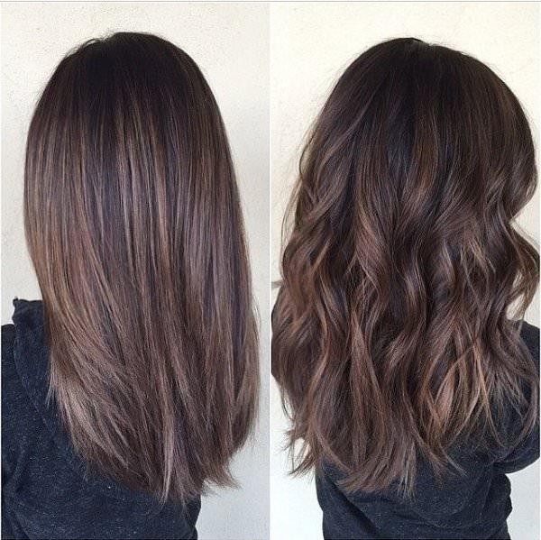 Балаяж на русые волосы прямые фото