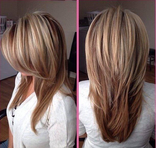 Прически и мелирования для длинных волос