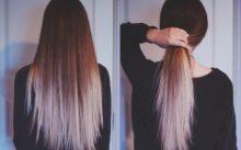 Омбре на темные волосы