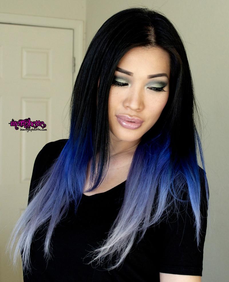 Омбре на темные волосы многотональное