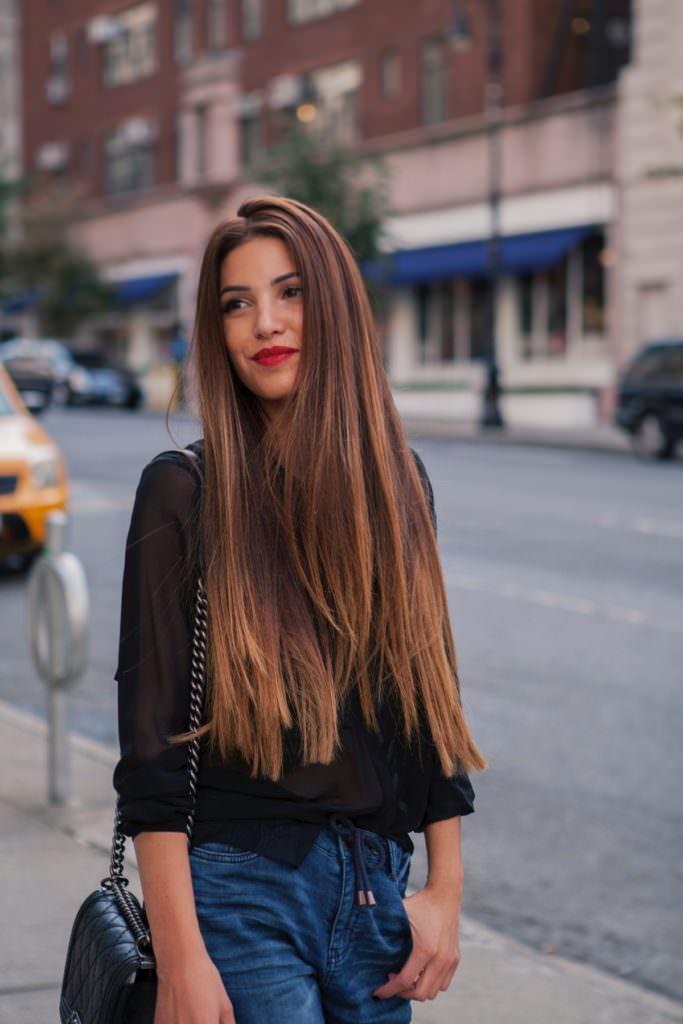 Шатуш на темные волосы