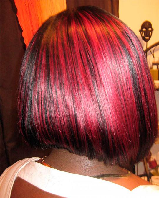Темно-красный цвет волос