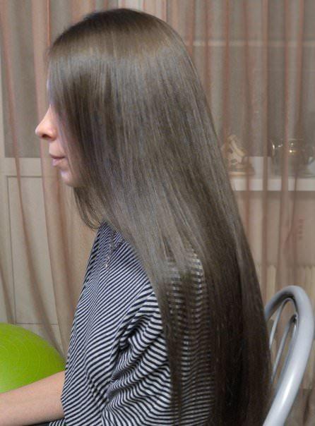 Фото натурально русого цвета волос