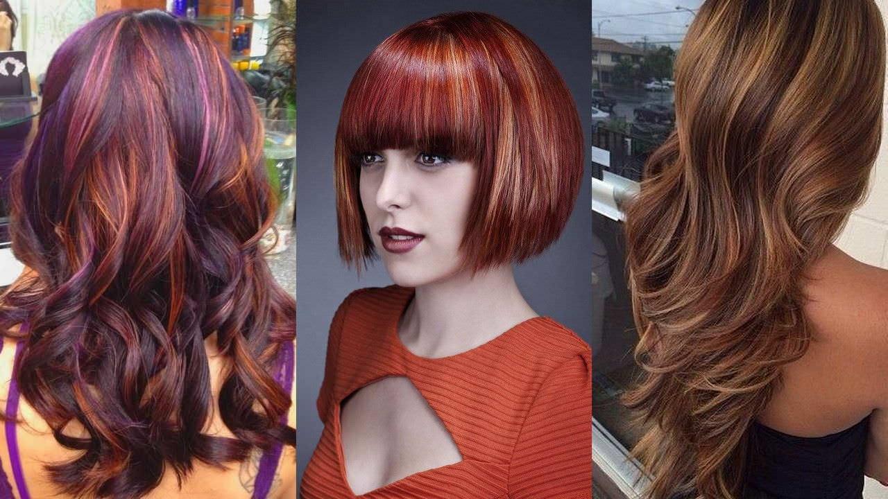Колорирование из двух цветов на темные волосы