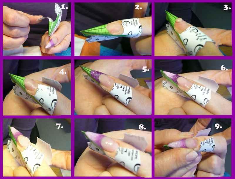 Наращивание ногтей на нижние формы