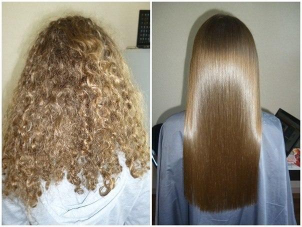 Бразильское выпрямление волос - до и после процедуры