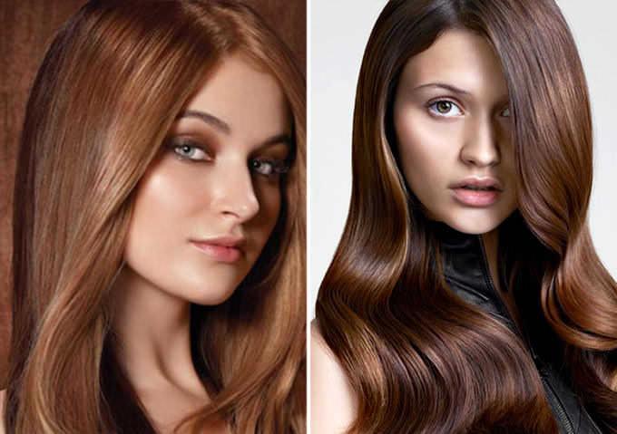 Цвет волос трюфель