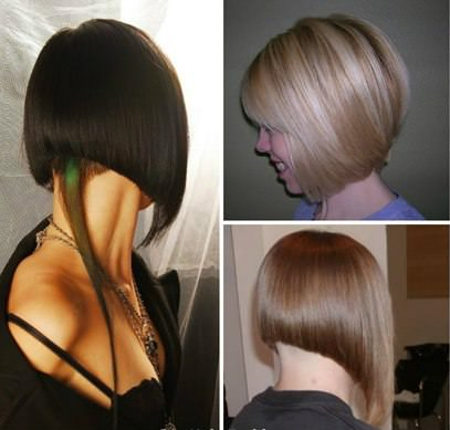 Фото причёски боб на удлинение
