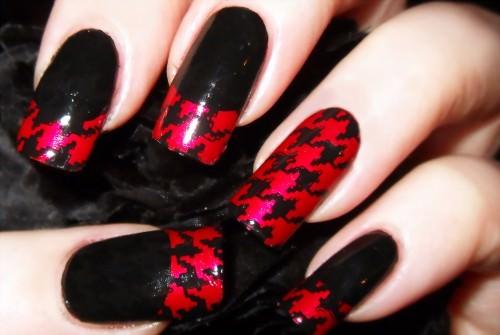 Красно-черный маникюр