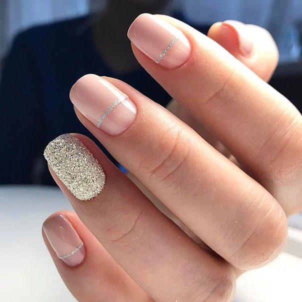 Дизайн ногтей маникюр из блесток
