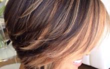 Модное мелирование на короткие волосы