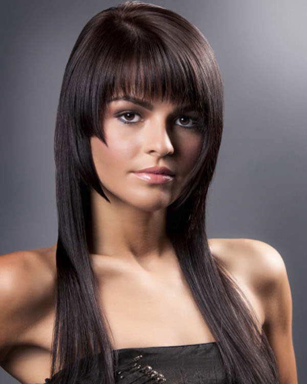 Стрижки на волосы с челкой