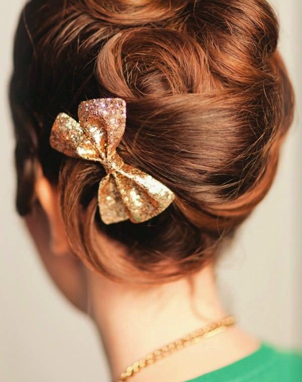 Вечерняя ракушка из волос