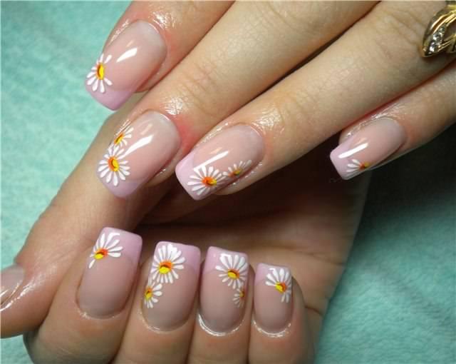 Рисунки гель лаком на ногтях