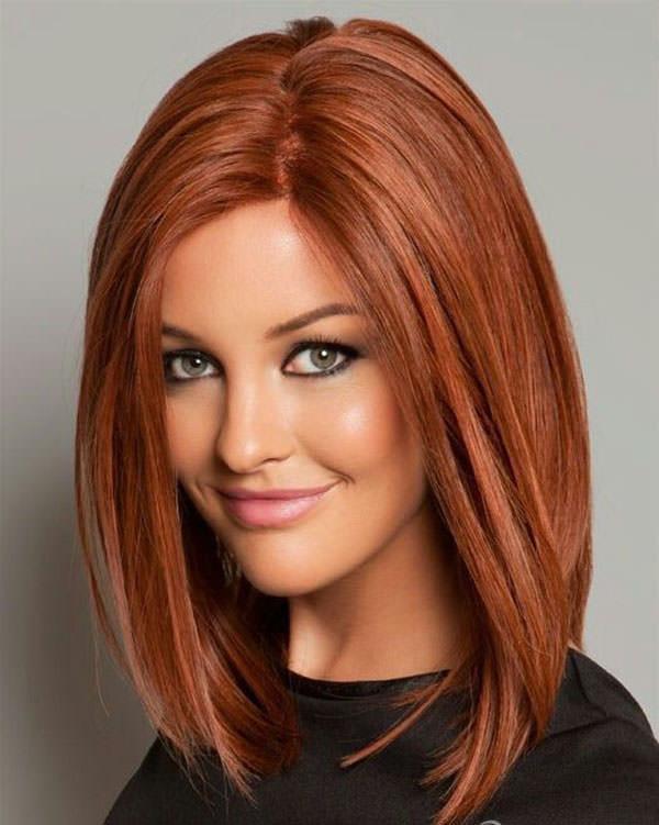 фото стрижка на средние волосы без челки