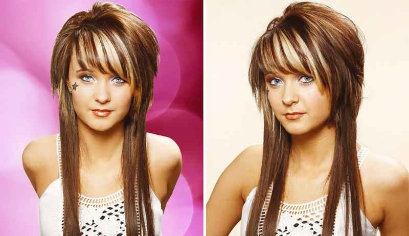 Стрижка шапочка на длинные волосы без челки
