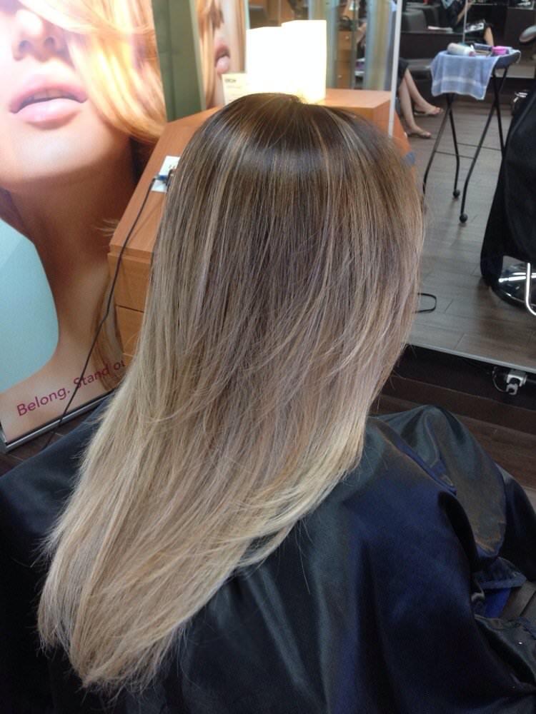Балаяж на русые волосы фото окрашивания после длинные