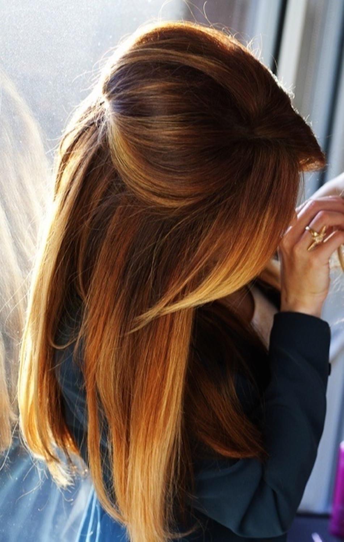 Брондирование тёмных волос