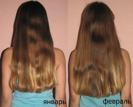 До и после применения маски