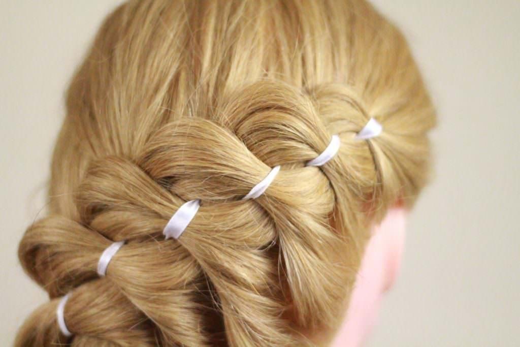 Коса с использованием лент