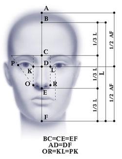 Параметры для определения типа лица