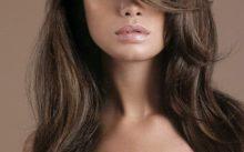 Лучшие стрижки на длинные волосы с длинной челкой