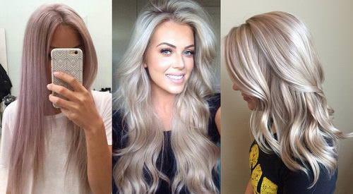 Холодные оттенки на светлых волосах