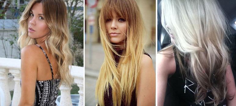 Балаяж или омбре на светлые волосы
