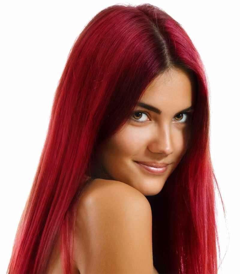 Ярко-красный цвет волос