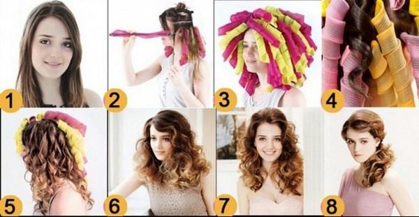 Как сделать волнистые волосы при помощи бигудей