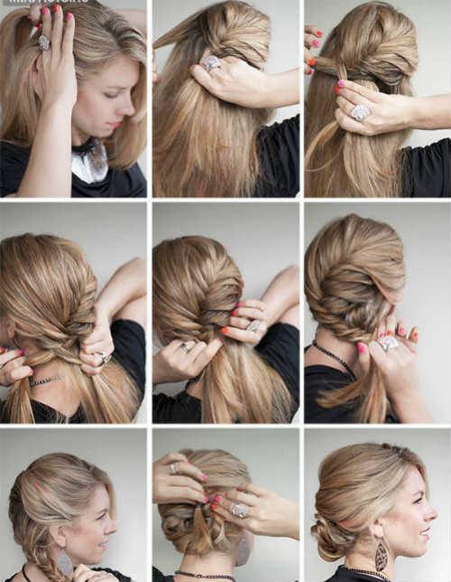 Casual-причёска на короткие волосы пошагово