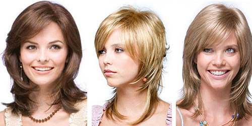 Лесенка на средние волосы