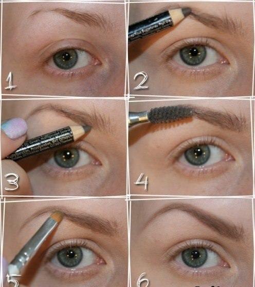 Покраска бровей карандашом