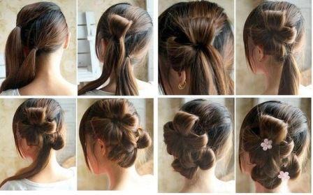 Цветы из волос