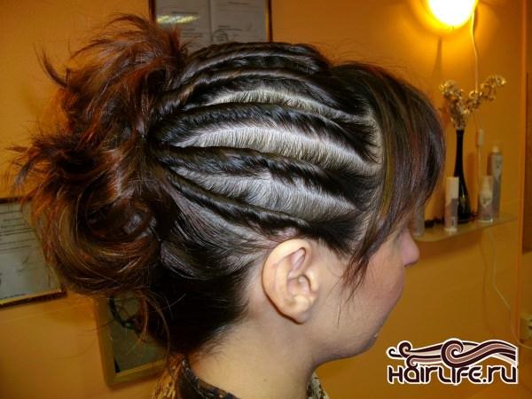 Мокрые жгуты на короткие волосы