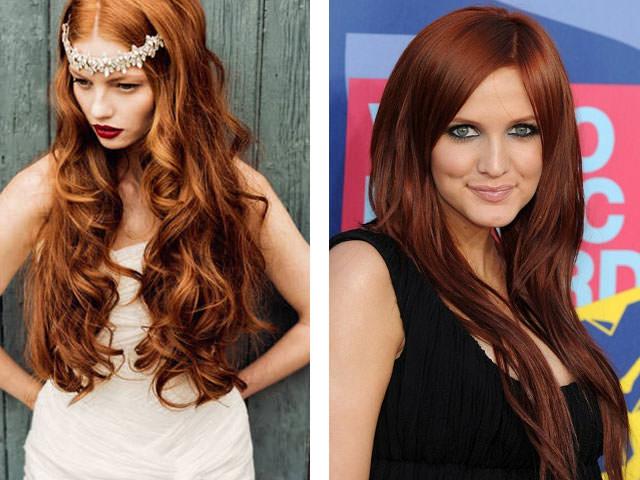 Шоколадно-рыжий цвет волос
