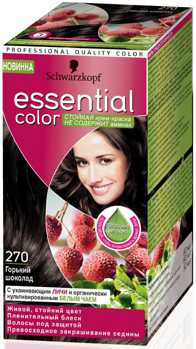 Schwarzkopf«Essential Color» горький шоколад 270