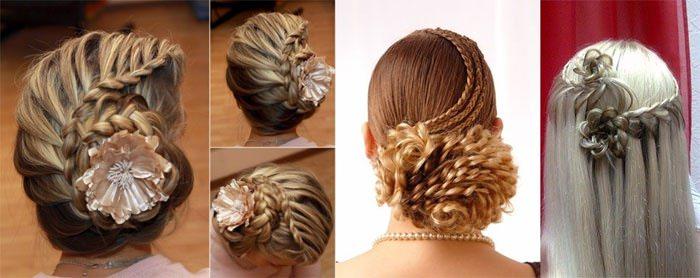 Свадебная прическа с круговой косой